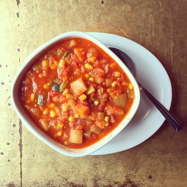 """""""Vegetable soup"""" stock image"""