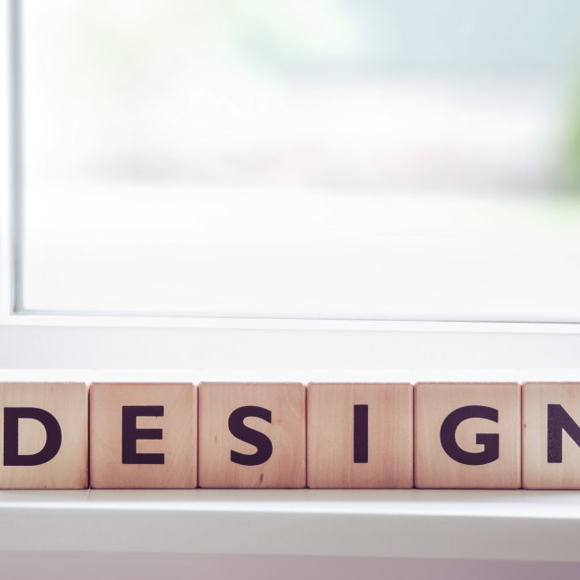 """Design sign with letters"" stock image"