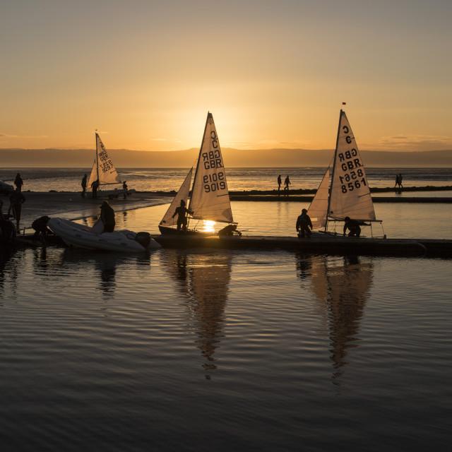 """Serene Sundown Sailing"" stock image"