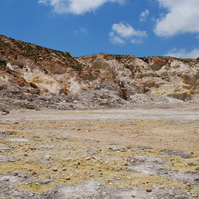 """""""Nisyros volcano crater, Greece"""" stock image"""
