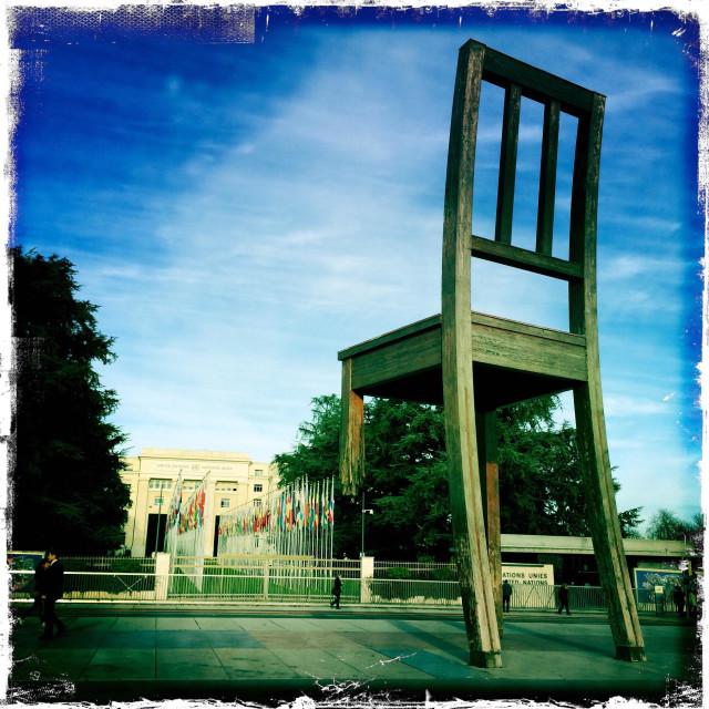 """Place des Nations Geneva"" stock image"