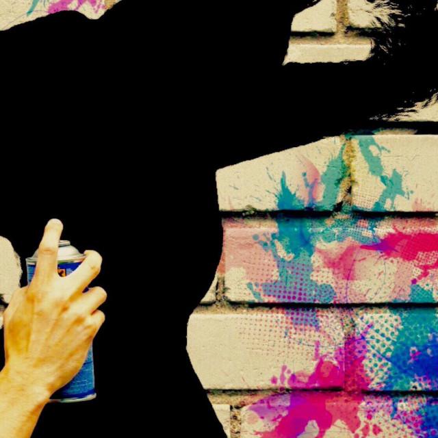 """Spray paint art"" stock image"