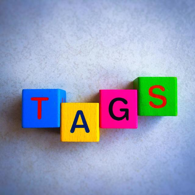 """""""TAGS"""" stock image"""