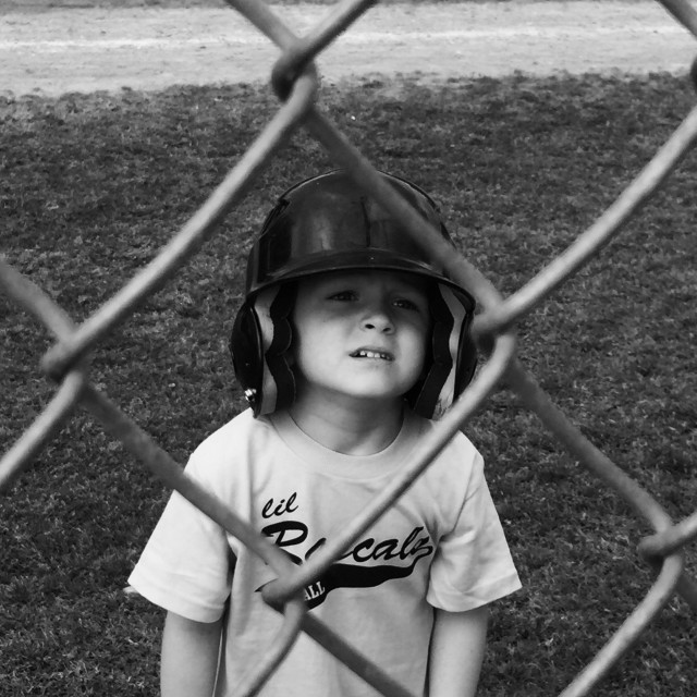 """First T-ball game ??????"" stock image"