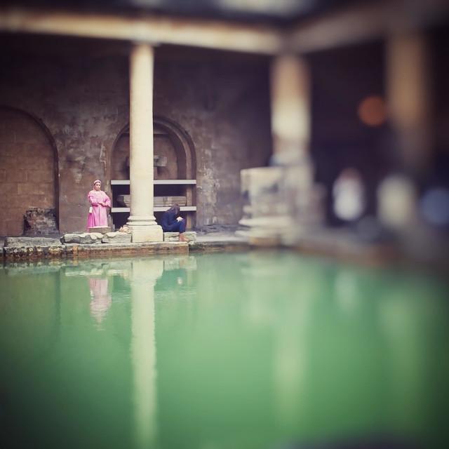 """Baths at bath"" stock image"