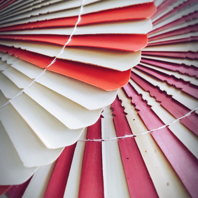 """""""Colorful dried Palm leaf, handcraft fan is common in tropical countries"""" stock image"""