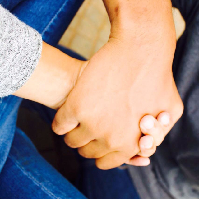 """Hold My Hand"" stock image"
