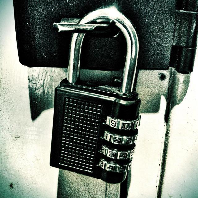 """A combination padlock."" stock image"
