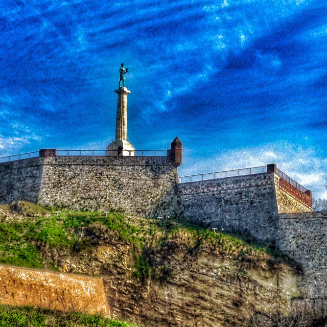 """Kalemegdan fortress in Belgrade, Serbia"" stock image"