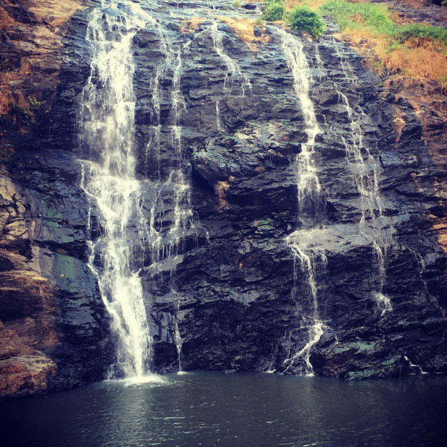 """""""Waterfall in coorg."""" stock image"""