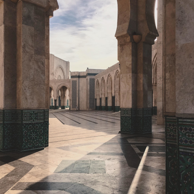 """""""Hassan II mosque in morocco"""" stock image"""