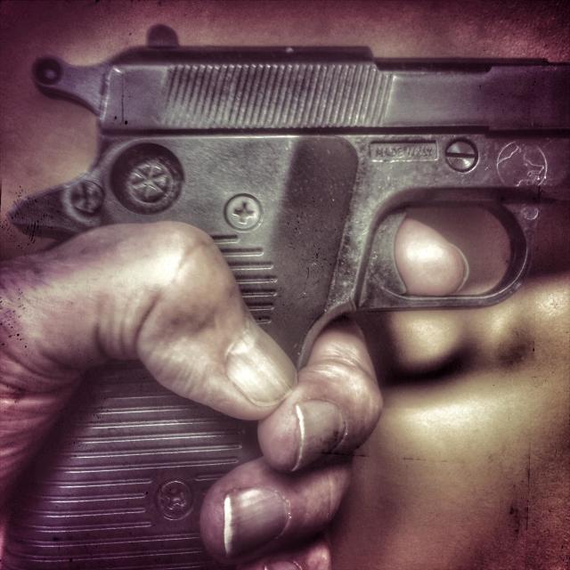 """Finger on the trigger"" stock image"