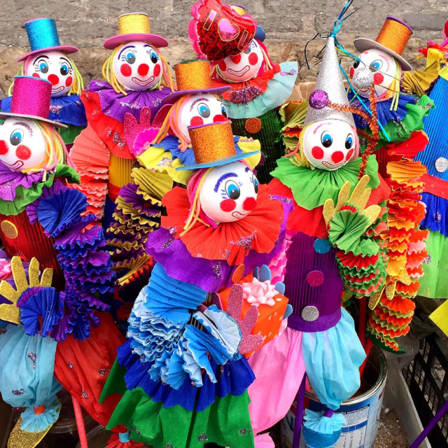 """Colorful puppet dolls"" stock image"