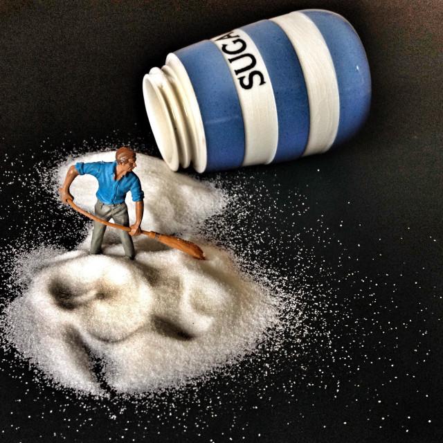 """""""Sugar spillage"""" stock image"""