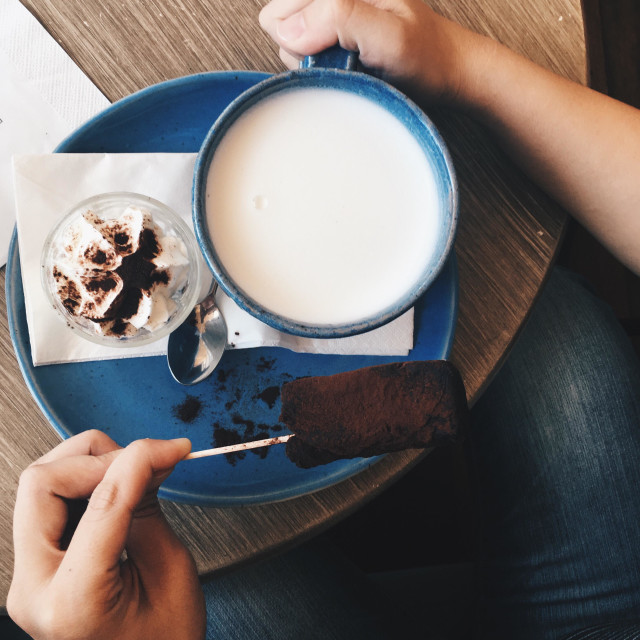 """""""Cocoa & milk"""" stock image"""