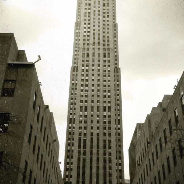 """""""Rockefeller Film Grain"""" stock image"""