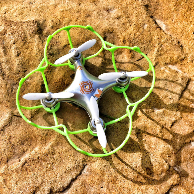 """Cheers on cx-10a micro or nano quadcopter drone."" stock image"
