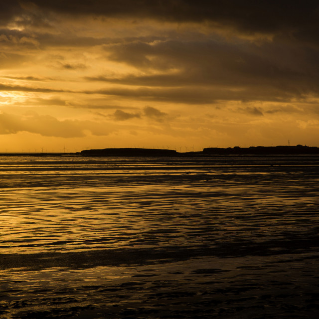 """Stormy Island Silhouette"" stock image"