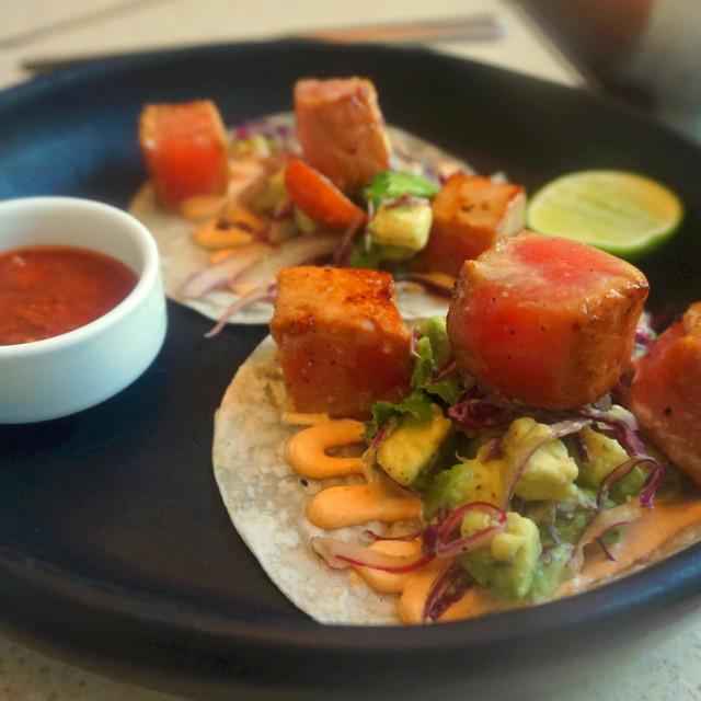 """Tuna Tacos"" stock image"