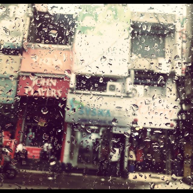 """Season's first rain in North India"" stock image"