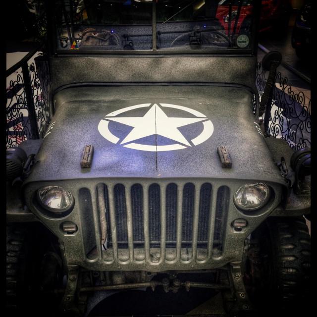 """WW2 era Willis Jeep."" stock image"