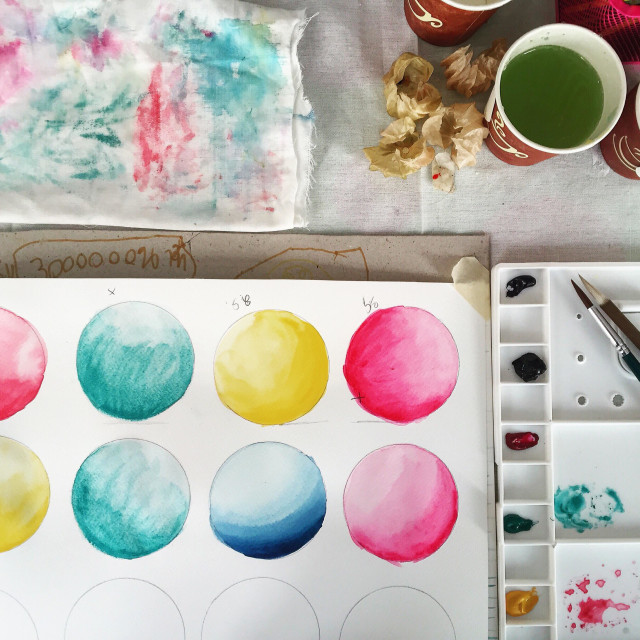 """Beginner watercolour"" stock image"