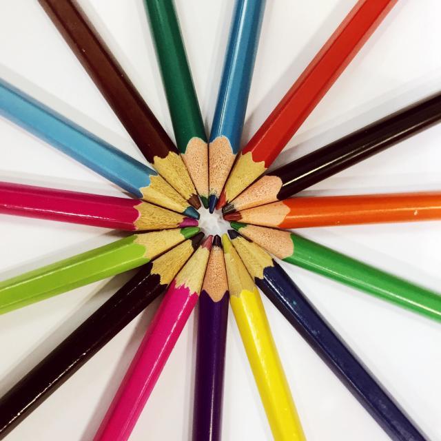"""""""Multicolored pencils"""" stock image"""