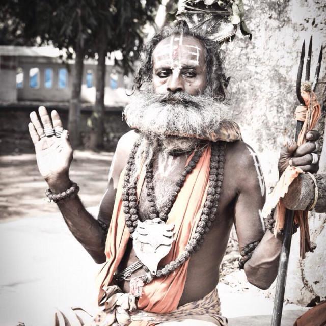 """Sadhu, Bhubaneswar, India"" stock image"