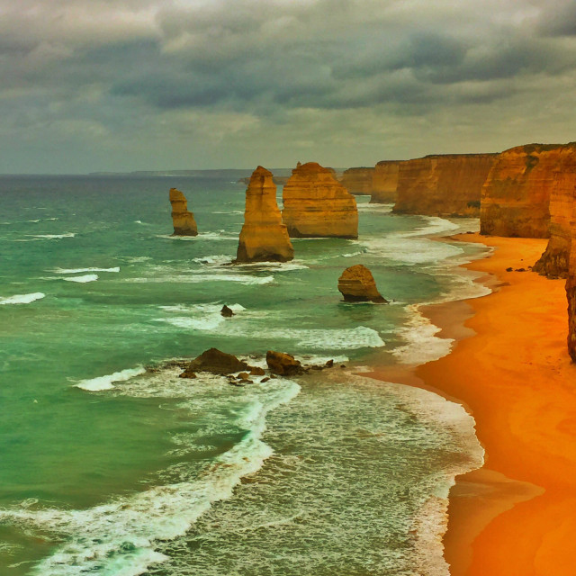 """Twelve Apostles, Marine National Park, Victoria, Australia"" stock image"