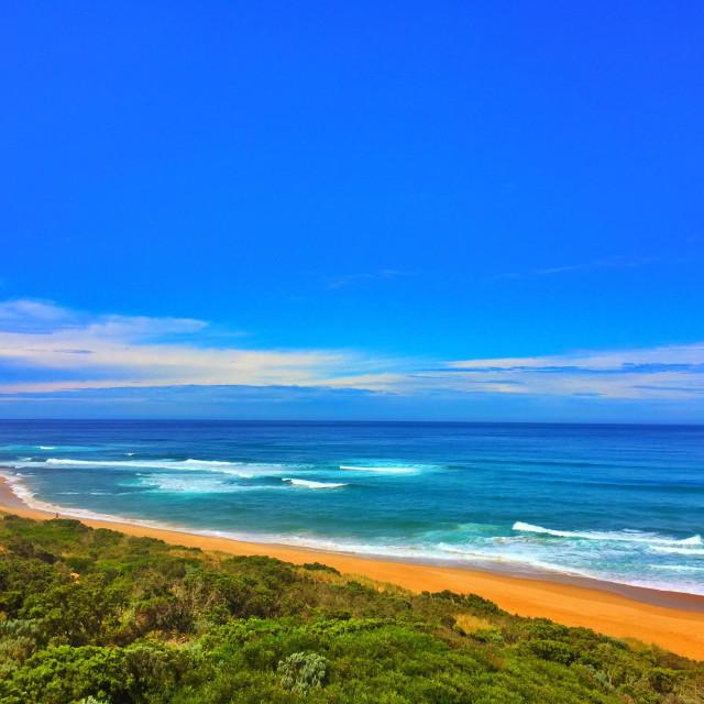 """""""Apollo Bay, Victoria, Australia."""" stock image"""