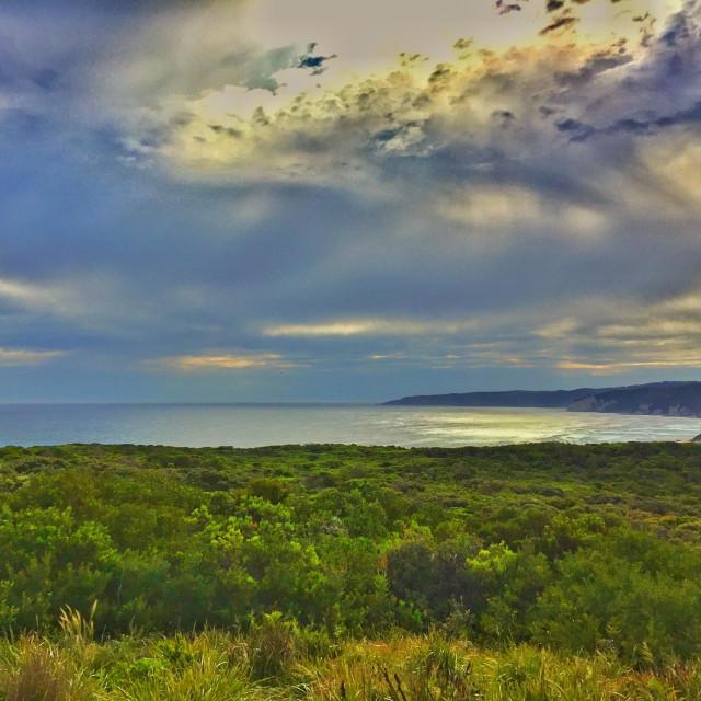 """Sunset at Apollo Bay, Victoria, Australia."" stock image"
