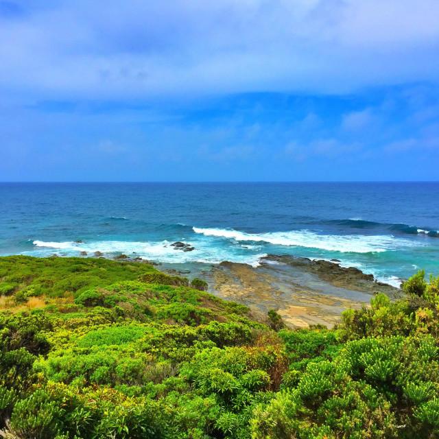 """Marine National Park and Apollo Bay, Victoria, Australia"" stock image"