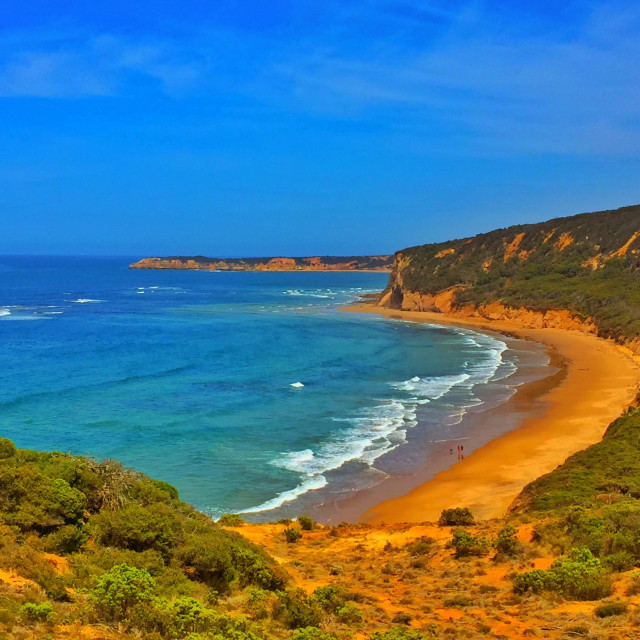 """""""Beach on Apollo Bay in Victoria, Australia"""" stock image"""