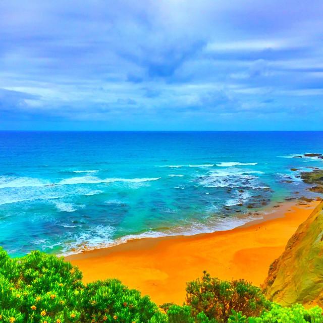 """Marine National Park and Apollo Bay, Victoria , Australia"" stock image"