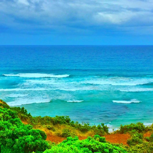 """Apollo Bay and Marine National Park, Victoria , Australia"" stock image"