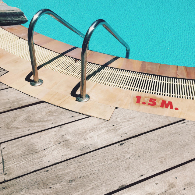 """Swimming pool 1.5 m"" stock image"