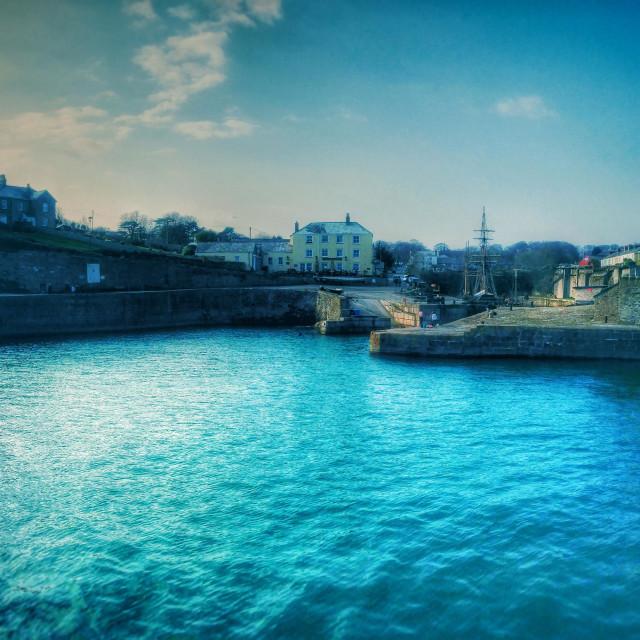 """Charlestown harbour, St Austell, Cornwall"" stock image"