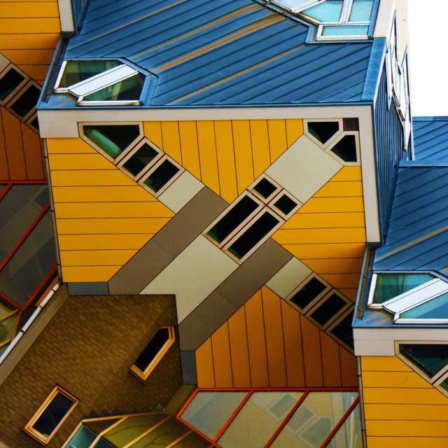 """Cube house located on Blaak Street in Rotterdam"" stock image"
