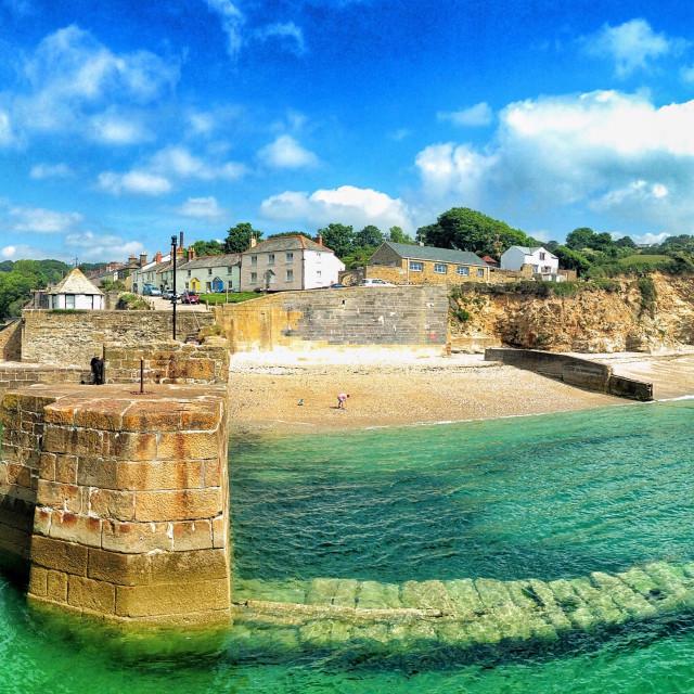 """Charlestown harbour, Cornwall, UK"" stock image"