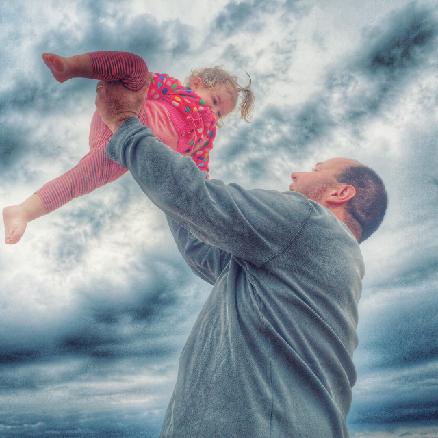 """""""Happy father and baby girl"""" stock image"""