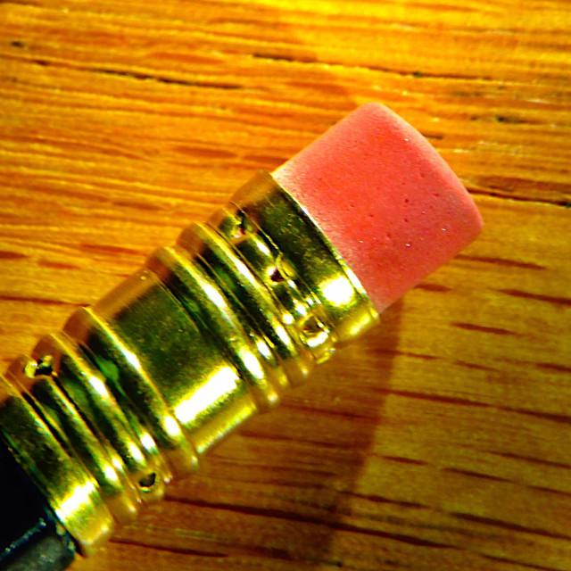 """""""Pencil eraser close-up"""" stock image"""