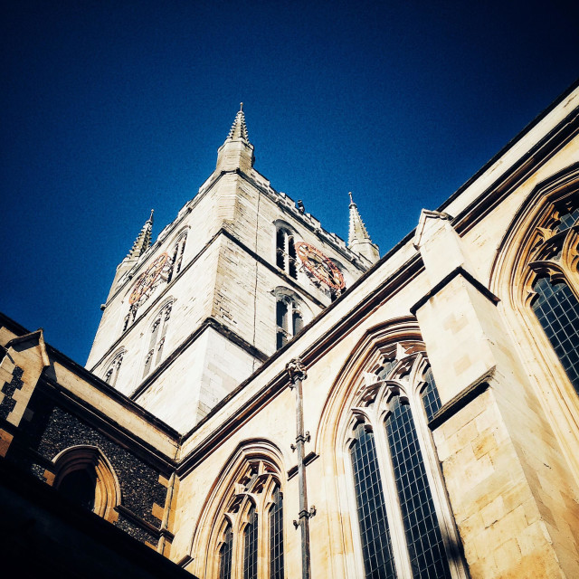 """Southwark Cathedral"" stock image"