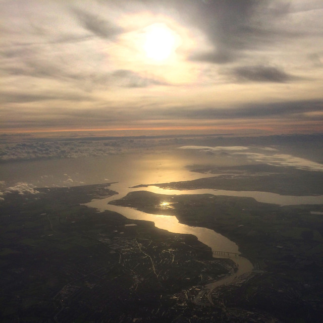 """River Orwell from above"" stock image"