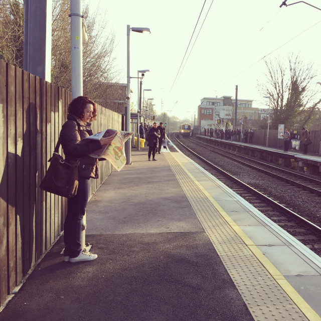 """London overground platform"" stock image"