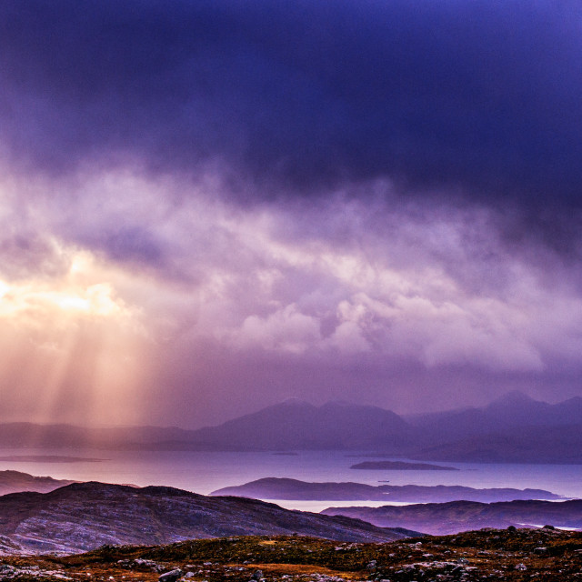 """Cuillins from Applecross"" stock image"