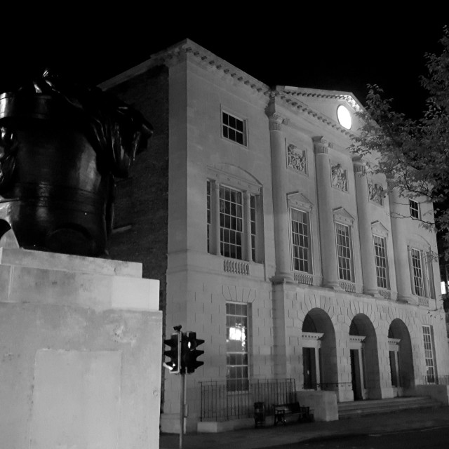 """Shire Hall, Chelmsford - illuminated at night"" stock image"