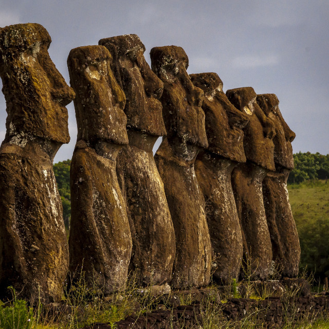 """Moai in Easter Island, Chile"" stock image"