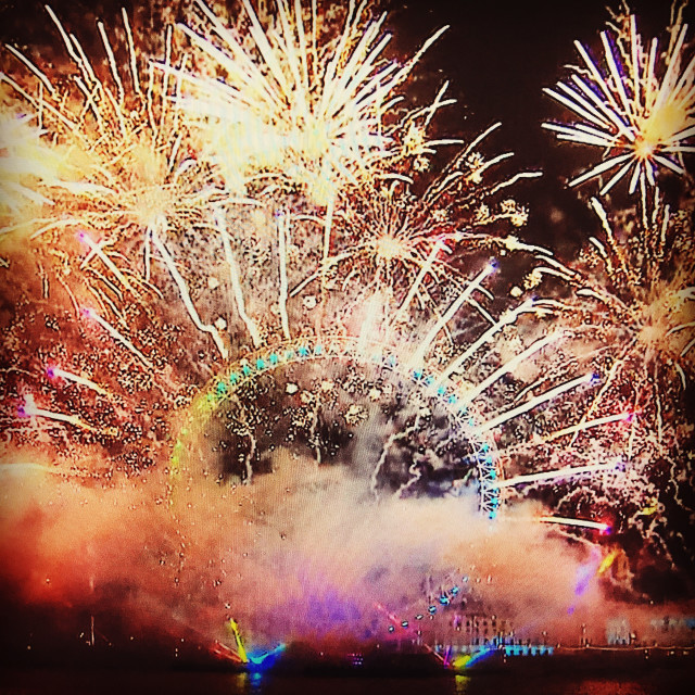 """London 2017 Fireworks"" stock image"