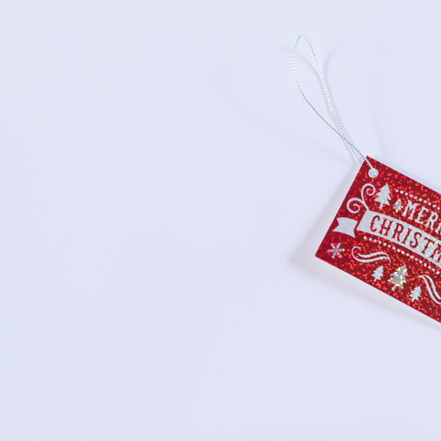 """Xmas Greeting Tag"" stock image"