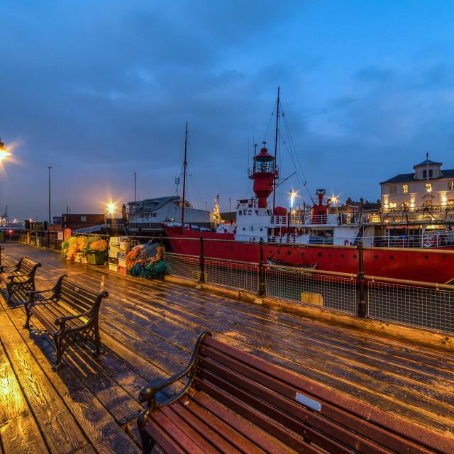 """Halfpenny Pier New Years Eve 2016"" stock image"